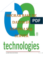 Migrar Una Base de Datos de Erwin Data a SQL Server