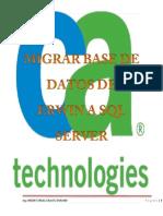 Migrar Una Base de Datos de Erwin Data a SQL Server