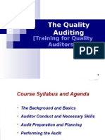 Internal Quality Audit - Training for Auditors