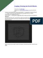 Material, UV Unwrapping, Texturing Dan Decal Di Blender 2.5