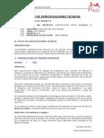3.- Pliego de Especificaciones Poteo El Chorro