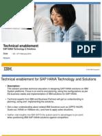 SAP HANA Technical Enblement