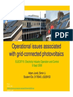 "Slide presentation for ""Operational Issues Associated with Grid-connected Photovoltaics"""