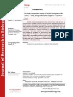 Laboratory Evaluation and Comparative Study of Herbal Mosquito Coils Against the Filarial Vector, Culex Quinquefasciatus (Diptera; Culicidae)