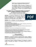 Reglamento de La Coordinacion General de Seguridad Publica, Trasito, Trasporte y Proteccion Civil