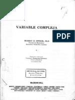 Variable Compleja-Murray Spiegel