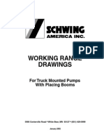 SCHWING Concrete Pump Working Range Drawings