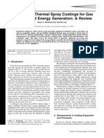 Advances in Thermal Spray Coatings for Gas Turbine