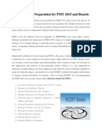 Balance Your Preparation for PMT 2015 and Boards