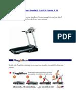 BH Home Treadmill GA 6030 Pioneer K 30