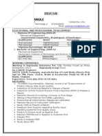 RESUME-BE+DME(Mech Engg with 2 Years Exp.