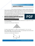 Heron's Formular Surface Areas and Volumes & Triangles
