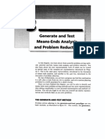 Generate and Test Means-Ends Analysis and Problem Reduction