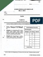Percubaan UPSR 2014 - Johor - Sains