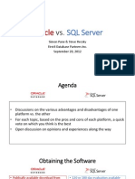 Oracle vs. SQL Server