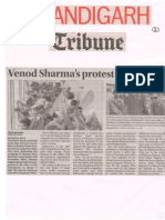 Venod Sharma Protest halts PanchKula.