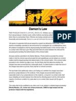 Damon's Law for Legislators