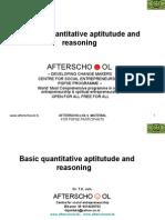 Basic quantitative aptitutude and reasoning 20 april