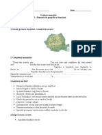 Geografie Elemente de Geografie a Romaniei