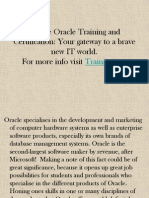 Oracle Online Training - Trainingicon