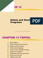 ch13 SAFETY HEALTH PROGRAMS