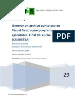 CU00355A Crear Archivo Punto Exe Visual Basic Programa Ejecutable Fin Curso