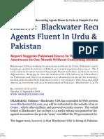 Black Water Ahmed Qureshi