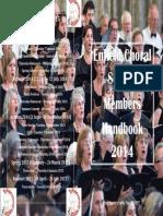 Enfield Choral Society Handbook 2014