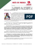 IU Denuncia La Utilización de Personal y Material Municipal Para La Concesionaria de La Cafetería Del Val