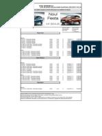 Lista de Preturi FORD FIESTA Ianuarie 2014