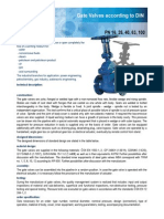 Gate Valves According to DIN