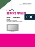 26LX1D service Manual, LG LCD TV