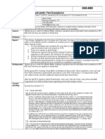 Hydrotest Exemption Details