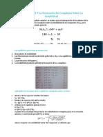 Efecto Del PH Y La Formación de Complejos Sobre La Solubilidad