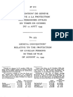 Convention (IV) de Genève relative à la protection des personnes civiles en temps de guerre