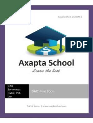 DAX Hand Book | Enterprise Resource Planning | Microsoft