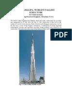 Burj Khalifa Features