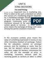 pricing decision