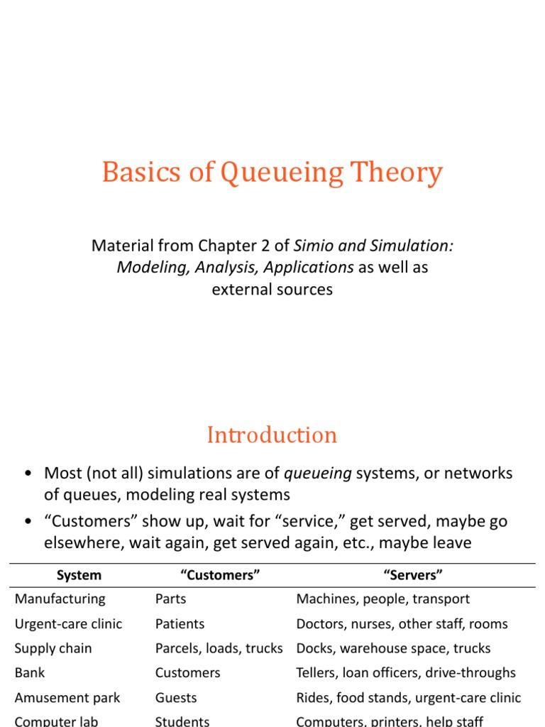 Basics of Queueing Theory   Simulation   Applied Mathematics