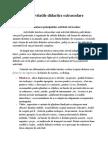 Activitatile Didactice Extrascolare. 1