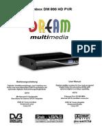 User Manual Dm800 Hd