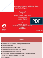 Working Around the Impediments to Moble Money Uptake in Nigeria - Osondu Nwokoro, Airtel Nigeria