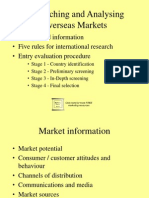 Researching and Analyzing Overseas Markets 5