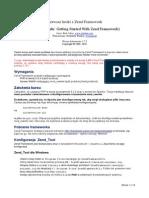 Pierwsze Kroki z Zend Framework