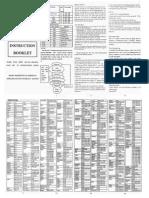 URC22B URC22C-15 universal remote controller instruction booklet
