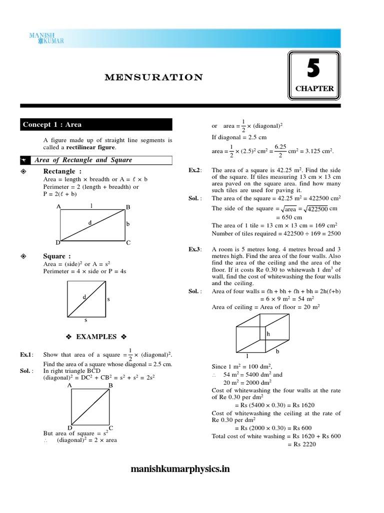 05mensuration Area