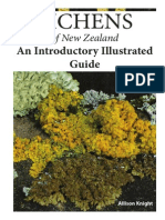 Lichens of New Zealand an Introductory Illustrated Guide