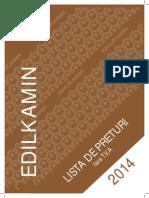 Lista de preturi Edilkamin ROM 2014