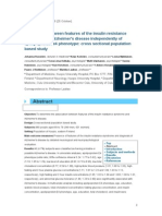 Association Between Features of the Insulin Resistance Syndrome and Alzheimeras Disease Independently of Apolipoprotein e4 Phenotype Cross Sectional Population Based Study