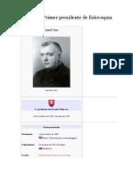 Josef Tiso. Primer Presidente de Eslovaquia